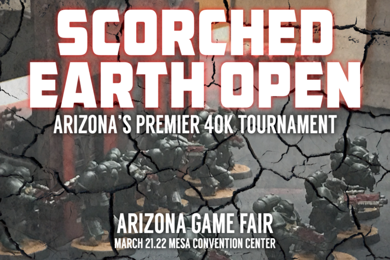 Scorched Earth Open announcement logo.